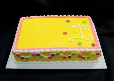 First Birthday Yellow Polka Dot without Smash Cake